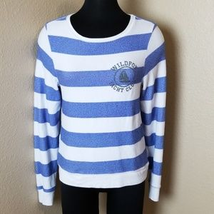 Wildfox White Label Yacht Club Striped Pullover